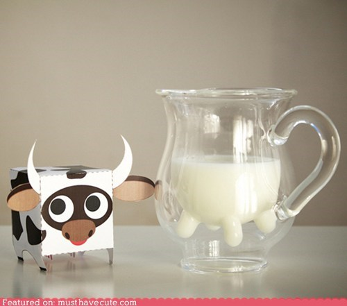 glass milk pitcher silly udder - 6104055040