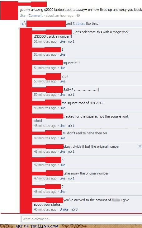 facebook look at all the cares i give magic math