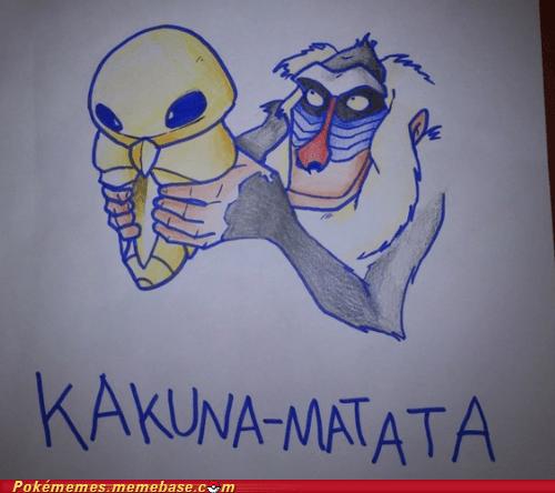 crossover kakuna lion king Pokémemes rafiki viridian forest - 6104130560