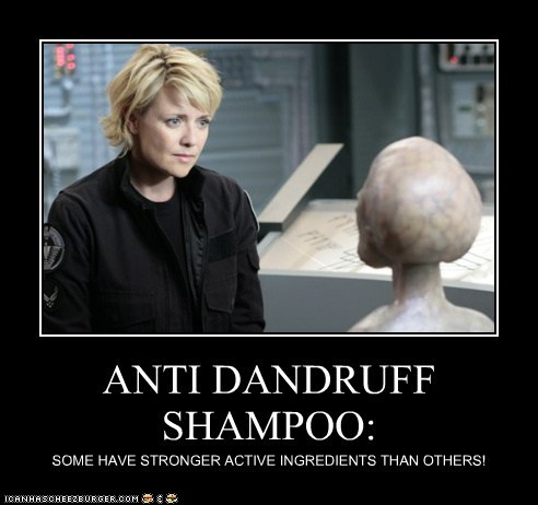 active alien amanda tapping bald dandruff ingredients samantha carter sg-1 shampoo Stargate stronger - 6104251392
