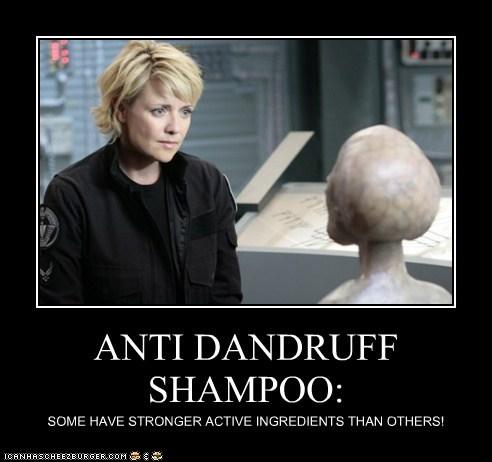 alien amanda tapping bald dandruff samantha carter sg-1 shampoo Stargate - 6104251392