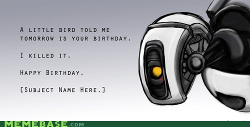 birthday gladOS Portal video games - 6104387584