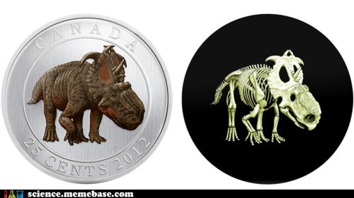 Canada coin dinosaur glow in the dark Memes science - 6104493056