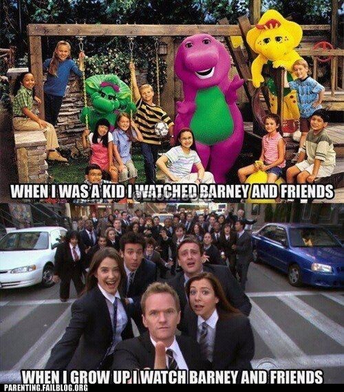 barney,g rated,how i met your mother,now and then,Parenting FAILS