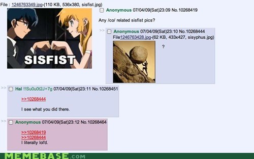 4chan,greek,Memes,mythology,sisfist,sistah,sisyphus