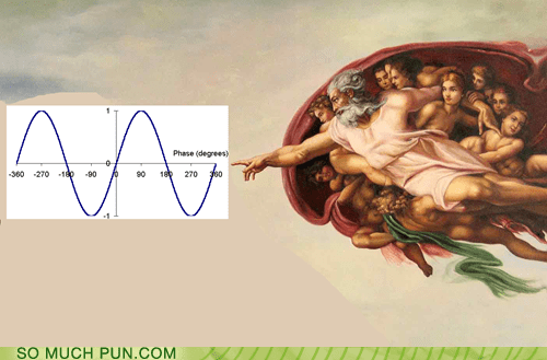 A Sine From God - Puns - Pun Pictures