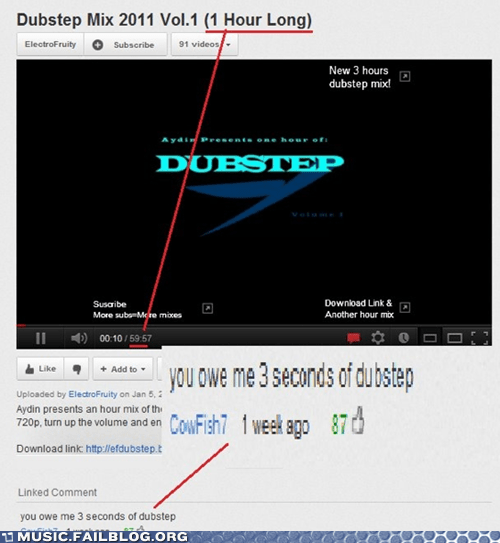 comment,dubstep,youtube,youtube comment