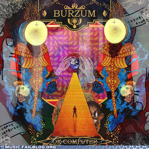 album,album cover,animal collective,Burzum,cover,kanye west,mashup,Mastodon,Neutral Milk Hotel,ok computer,so many of them