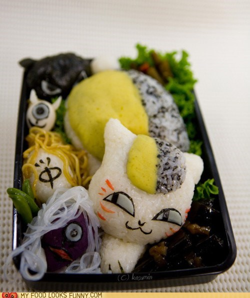 anime,bento,egg,kitty,noodles,rice