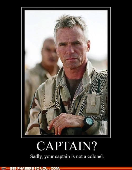 captain Colonel jack-oneil sadly Stargate Stargate SG-1 unimpressed