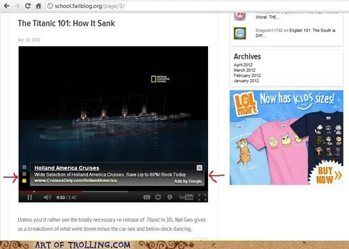 Ad,FAIL,titanic,wtf,youtube