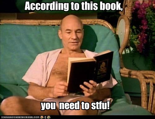 book Captain Picard interesting patrick stewart Star Trek stfu TNG - 6106487296