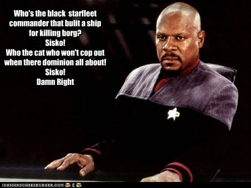 avery brooks,captain sisko,Deep Space Nine,one bad motha,shaft,song,Star Trek,theme