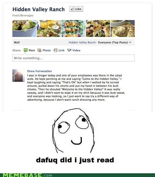 dafuq facebook hidden valley kroger marketing campaign of the day Rage Comics stories - 6106642176