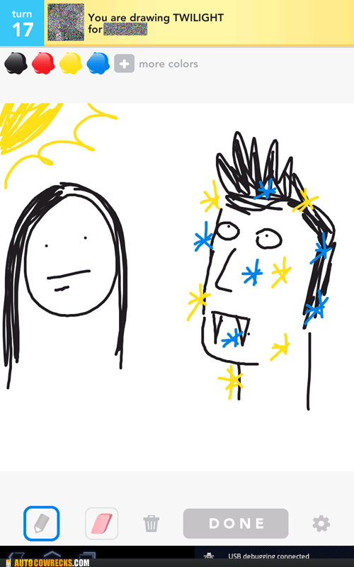 AutocoWrecks draw something g rated sparkling twilight vampires