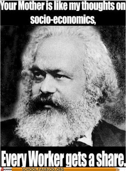 communism every worker gets a share Hall of Fame karl marx sick burns your mama - 6106733056