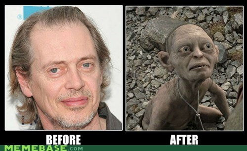 after,before,golum,Memes,steve buscemi