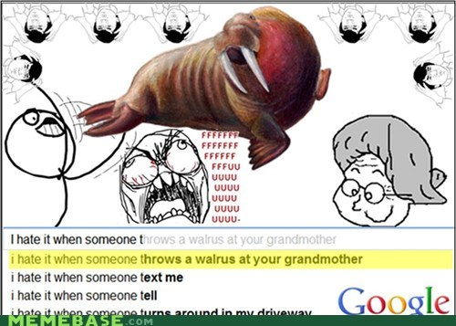 google,grandmother,seems legit,surprise,walrus