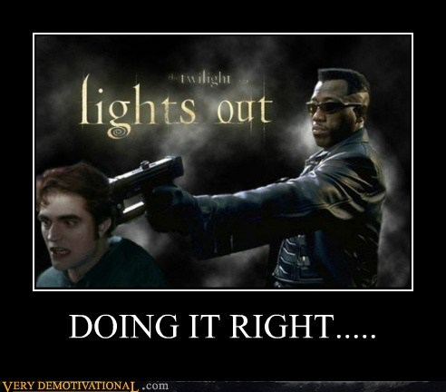 blade doing it right hilarious twilight