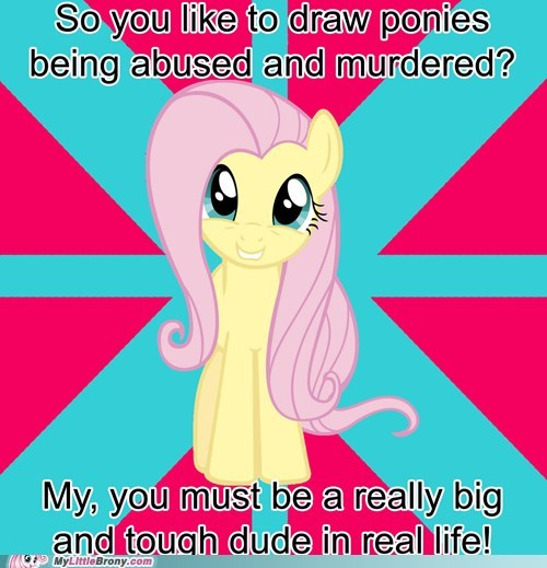 fluttershy meme stop it tough guys - 6107335936