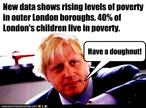 New data shows rising levels of poverty in outer London boroughs. 40% of London's children live in poverty.