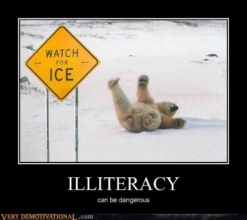 dangerous hilarious ice illiteracy polar bear sign - 6107633408