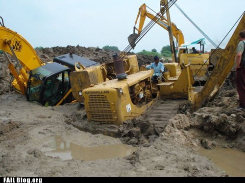 crane,mud,stuck