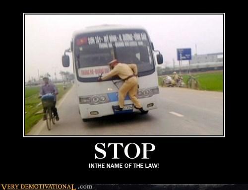 bus,cop,dangerous,hilarious,stop,wtf