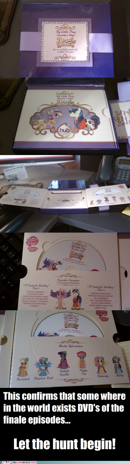 box opening Bronies DVD invitation IRL mane six my little pony wedding - 6108036352