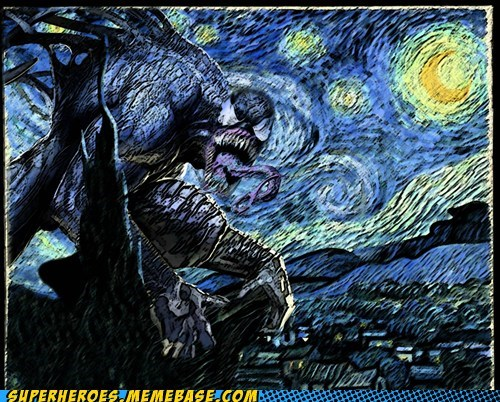 Awesome Art night Van Gogh Venom - 6108038656
