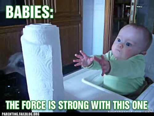 baby,paper towels,star wars,the force