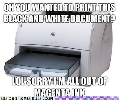 class emolulz First World Problems printer