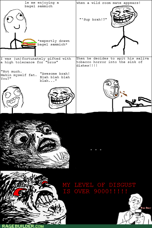 gross,Rage Comics,raisin rage,roommates,spit