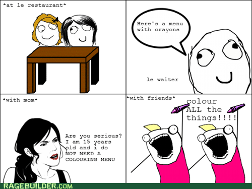 all the things,coloring,Rage Comics,restaurants