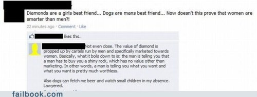 diamonds,dogs,lawyer,lawyered,women and men