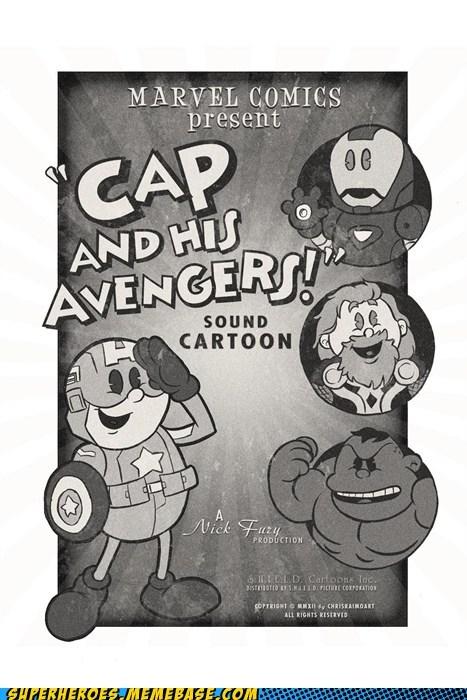 Awesome Art,captain america,hulk,iron man,Thor