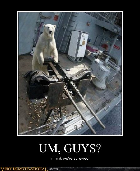 guns,hilarious,polar bears