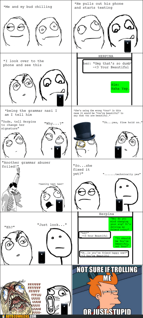 grammar nazi Rage Comics signatures your youre - 6108373504