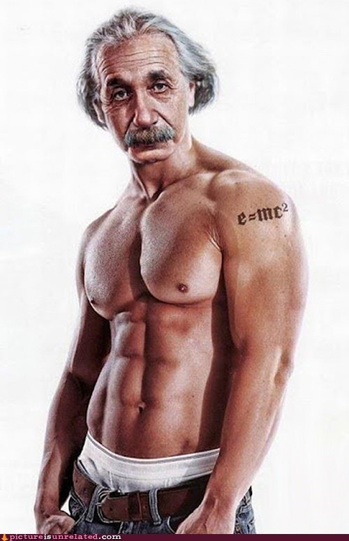 best of week,einstein,hawt,model,muscles,wtf