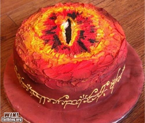 cake dessert food g rated Hall of Fame Lord of the Rings nerdgasm sauron win - 6108560896