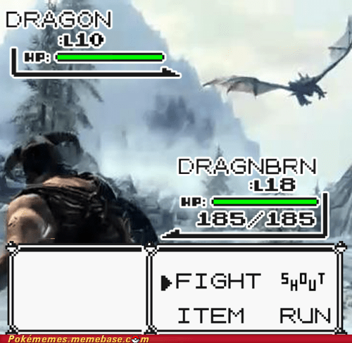 Battle,crossover,dragon,Skyrim,video games