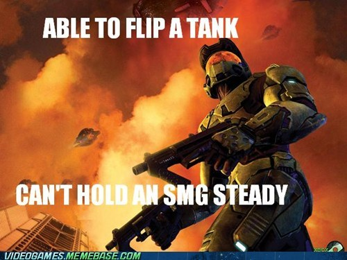 dual wield halo inaccurate master chief meme SMG tank - 6108622336