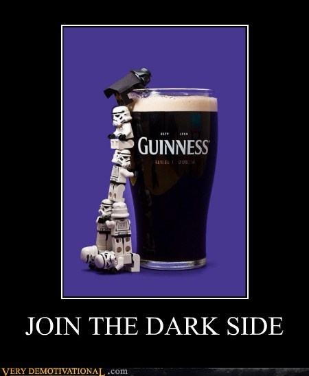 beer darth vader fandombase guinness Pure Awesome stormtrooper very demotivational