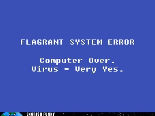 bluescreen,flagrant error,system error,virus