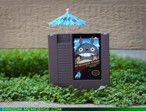 crossover,Fan Art,my neighbor totoro,NES,video games