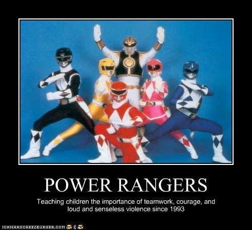 children,courage,educational,heroes,power rangers,teamwork,violence