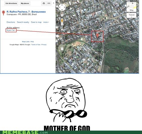 brazil,google,Maps,Nyan Cat