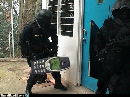 nokia,peanut phone,swat