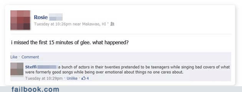 glee,predictable,television,TV