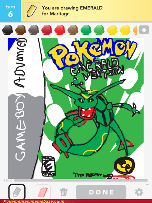 art draw something emerald game boy advance Pokémon third gen - 6109048832